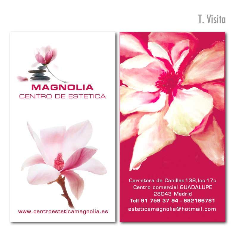 """Tarjeta de visita """"Magnolia"""""""